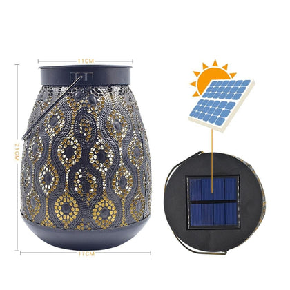 Transer 1pc Waterproof Solar Lawn Lights Hollow Vase Shape Warm Light for Garden Yard Path Lamp Lantern Home Decor  907 - Go Buy Dubai