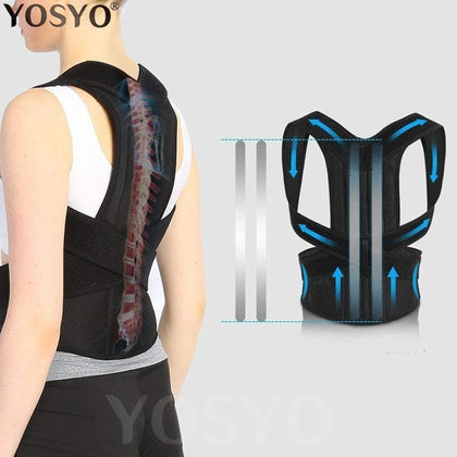 Posture Corrector for Men and Women Back Posture Brace Clavicle Support Stop Slouching and Hunching Adjustable Back Trainer - Go Buy Dubai