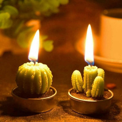 12Pcs Succulent Plants Mold Cactus Aroma Gypsum Plaster Silicone Candle Molds Home Wedding Birthday Party Decoration Home DecorN - Go Buy Dubai