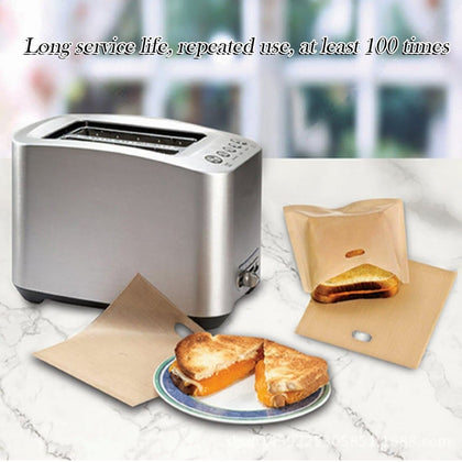 Reusable Non-stick Grilled Toaster Bag High Temperature Baked bread bag Grilled Cheese Sandwiches Barbecue Heating Bag #6/6 - Go Buy Dubai