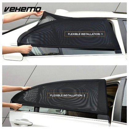 2Pcs Car Window Sun Shade Curtain Auto Window Shield UV Protection Shield Cover Sunshade Car Sun Protector Window Shades For Car - Go Buy Dubai