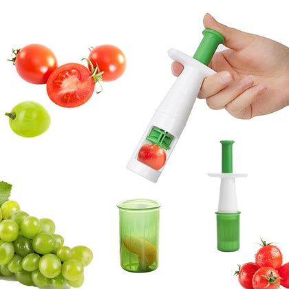 Fruit Vegetable Cutter Grape Slicer Auxiliary Baby Food Multifunctional Cherry Tomato Slicers Simple To Use - Go Buy Dubai