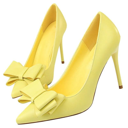 2020 Woman Fetish 10cm High Heels Wedding Bridal Scarpins Shoes Blue Stripper Yellow Escarpins Heels Stiletto Valentine Pumps - Go Buy Dubai