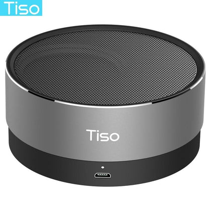 Tiso T10 Bluetooth speaker metal mini portable wireless 10-15 hours playtime 5W loudspeaker outdoor IPX5 waterproof AUX TF MIC - Go Buy Dubai