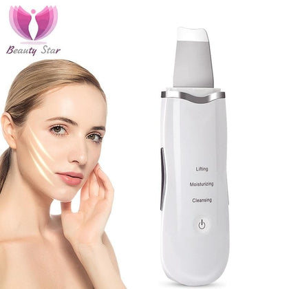 Beauty Star Ultrasonic Face Cleaning  Skin Scrubber Facial Cleaner Skin Peeling  Blackhead Removal Pore Cleaner Face Scrubber - Go Buy Dubai