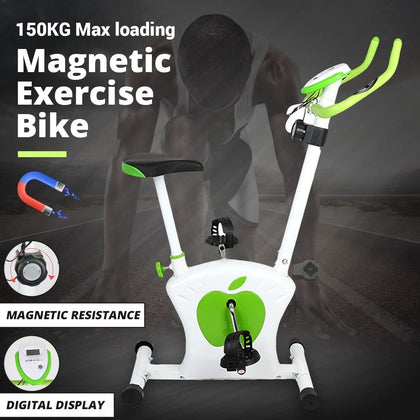 Indoor Cycling Magnetic Resistances Exercise Bike with LED Monitor Cardio Home Fitness Gym Spinning Bicycle Workout Training New - Go Buy Dubai