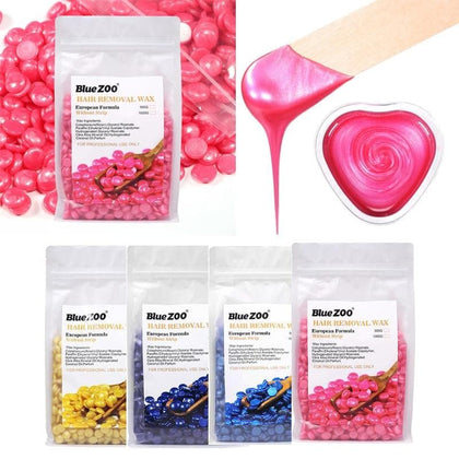 500gHard Wax Pellet No Strip Depilatory Hot Film Hard Brazilian Wax Hair Removal Cream Hair Removal Bean For Facial Hair Remover - Go Buy Dubai