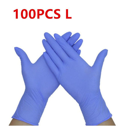 100 PCS Transparent Purple Disposable PVC Gloves Dishwashing/Kitchen/Latex/Rubber/Garden Gloves Universal For Home Cleaning - Go Buy Dubai