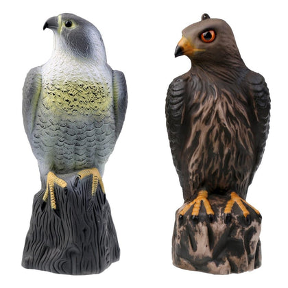 Lifelike Eagle Decoys Hawk Scarecrow with Bright Eyes - Home Garden Decoration Lawn Ornaments Tree Decor - Go Buy Dubai
