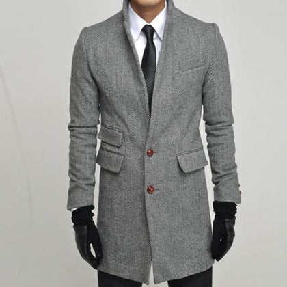 Custom Made To Measure Winter Jacket Man, Tailor Made Tweed Herringbone Topcoat, Manteau Homme, Bespoke Winter Coat Men 2015 - Go Buy Dubai