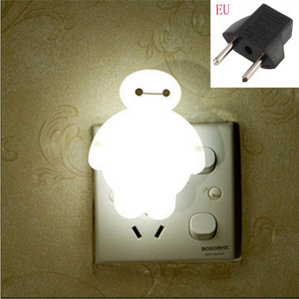 Top Baymax Cartoon night light lamp 110V 220V US EU plug baby room led energy saving lamp kids light bedside lamp lighting - Go Buy Dubai