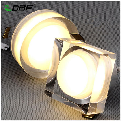 LED Crystal Downlight Square/Round 1W 3W 5W 7W LED Ceiling spot light led recessed lamp for home decoration kitchen Lighting - Go Buy Dubai