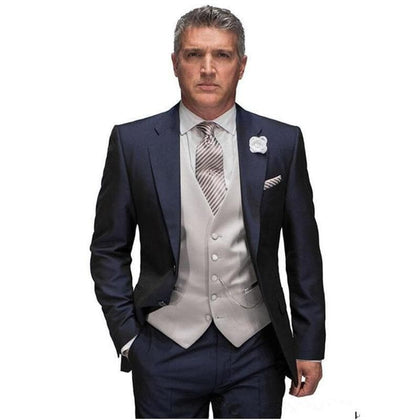 Costume New Design Tuxedos latest coat pant design Wedding Suit Man Suits Bridegroom Two Buttons ( Jacket+Pants+Tie +Vest)  A035 - Go Buy Dubai