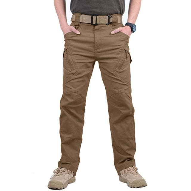 TACVASEN IX9 Men City Tactical Pants Multi Pockets Cargo Pants Military Combat Cotton Pant SWAT Army Casual Trousers Hike Pants
