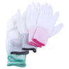1 Pair Anti Static Antiskid Glove PU Coated Finger Part Clean Gloves Knitted Anti Static Glove for PC Computer Phone Repair S-L