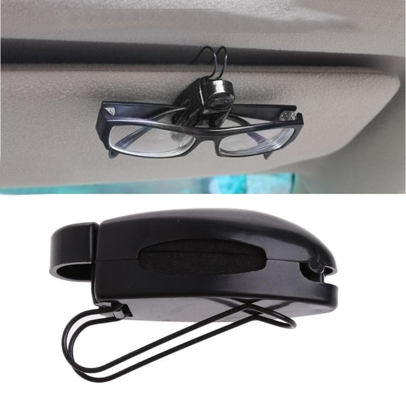1Pc Car Auto Sun Visor Clip Holder For Reading Glasses Sunglasses Eyeglass Card Drop shipping