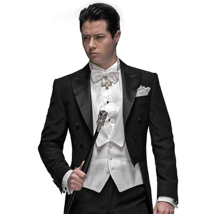 2020 latest designs Men's Tailcoat dress ( jacket+Pants+vest+tie) - Go Buy Dubai