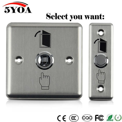 Stainless Steel Exit Button Push Switch Door Sensor Opener Release For Magnetic Lock Access Control Home Security Protection - Go Buy Dubai