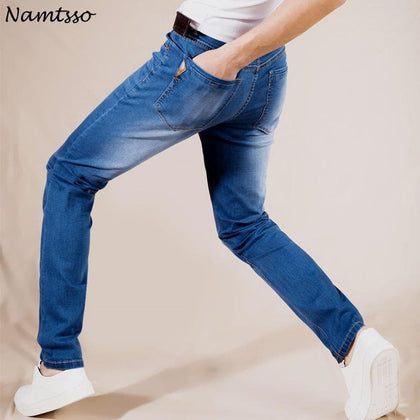 Summer New Stretch Cotton Breathable And Comfortable Jeans Fashion Casual Men's Lightweight Trousers Wholesale - Go Buy Dubai