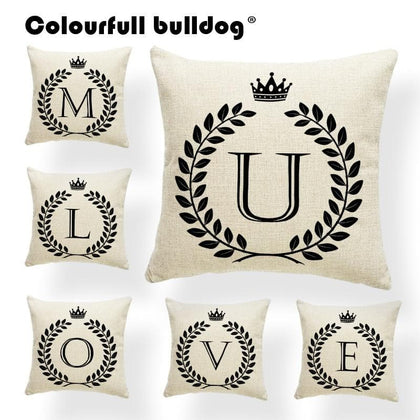 Alphabet Word Pillow Cushions Winter Pillow Case Covers Nordic Style Sweet HomeThrow Pillow Accent Lovers Gifts Personalized - Go Buy Dubai