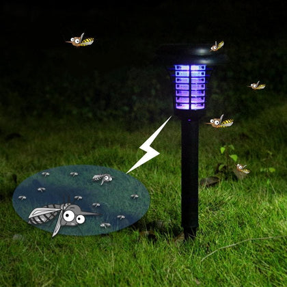 Hot solar Mosquito Killernight light Outdoor Yard Garden Lawn Light Mosquito repellent lInsect Pest Bug Zapper Trapping lamp - Go Buy Dubai