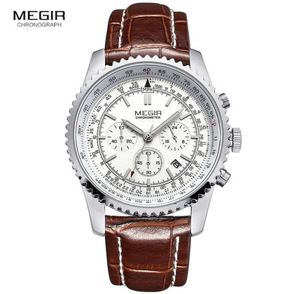 casual brand men's quartz watches luminous stop watch for man analog wrist watch with calendar male - Go Buy Dubai