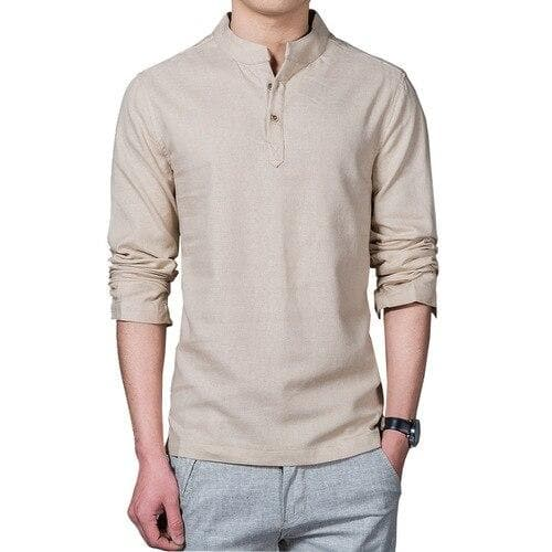 drop shipping 2018 New fashion men linen shirt long sleeve casual mens shirts breathable slim Fit dress shirts M-5XL AXP108