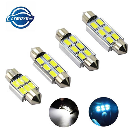 1pcs Festoon CANBUS 31mm 36mm 39mm 41mm C5W led ERROR FREE 5630 5730 6 LED smd interior reading white ice blue bulbs dome lamps - Go Buy Dubai