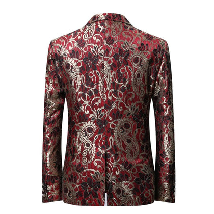 2020 Latest Design Men Suit Jacket Fashion Printing Blue Red Jacket - Go Buy Dubai