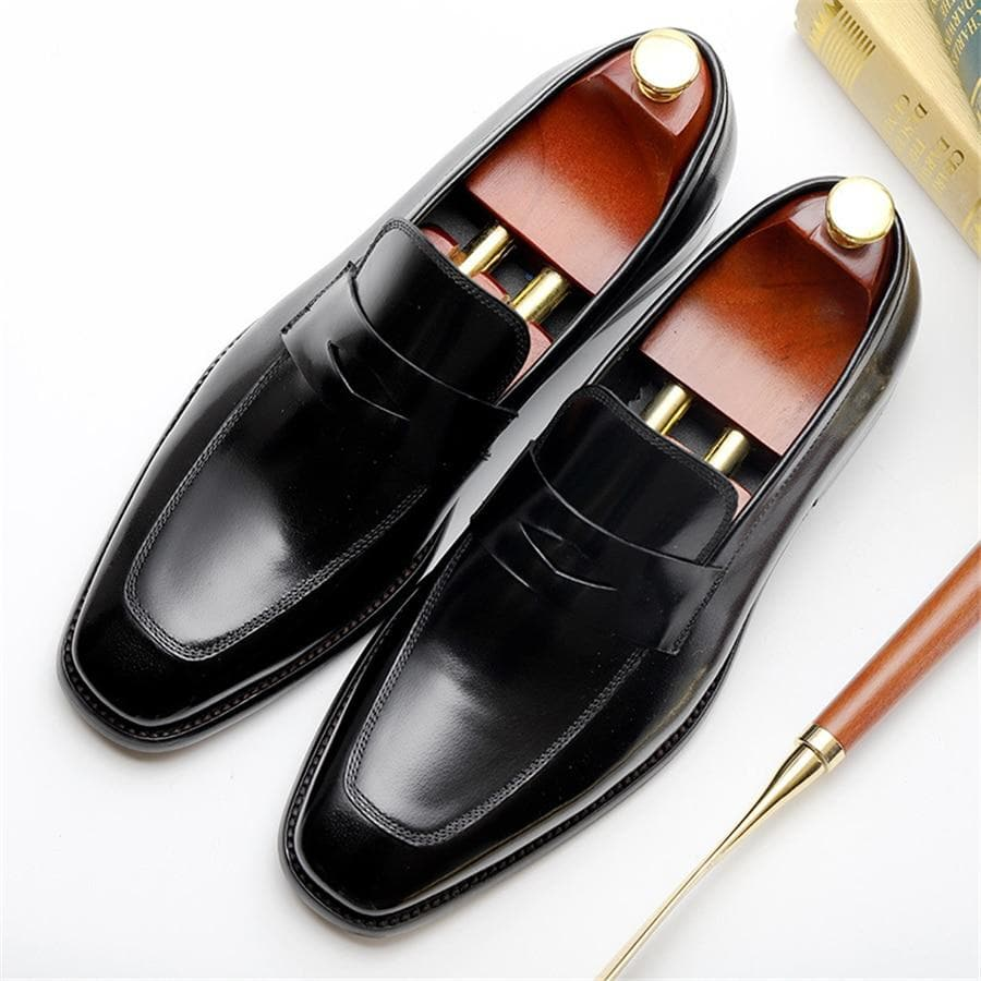 Genuine cow leather brogue Wedding Casual Shoes for men black red 2020 spring