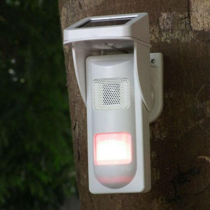 Outdoor Wireless Solar Dual Infrared Sensor with Single Voice Alert Waterproof - Go Buy Dubai