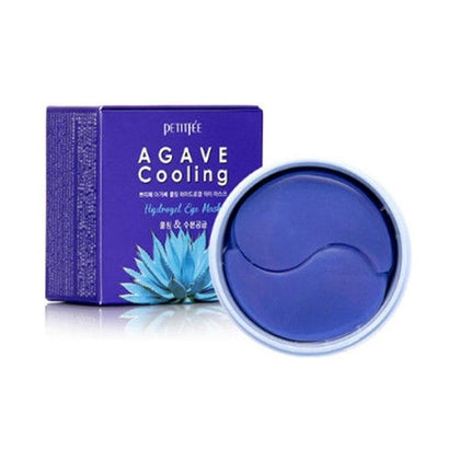 PETITFEE Agave Cooling Hydrogel Eye Mask 60pcs Eye Patches Skin Care Moisturizing Anti Wrinkle Whitening Masks Korea Cosmetic - Go Buy Dubai