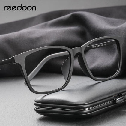 Reedoon Optical Eye Glasses Frame Ultralight Square Prescription Eyeglasses Plastic Titanium TR90 Frame Clear Lens For Men Women - Go Buy Dubai