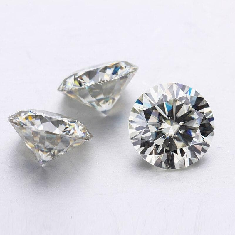 Color Moissanites Loose Stone 2 Carat 8.0mm IJ  VVS1  for Jewelry making