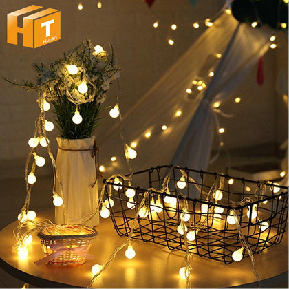 Small Ball LED String Lights Warm White 1M 10LED 2M 20LED 5M 50LED 10M 100LED Christmas Fairy Light Holiday Lighting - Go Buy Dubai