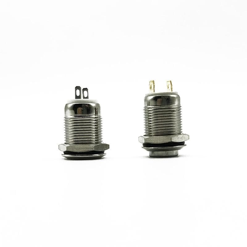 1pc 12mm metal button switch Locking Latching /Self-reset Momentary waterproof press the point, flat head and high head
