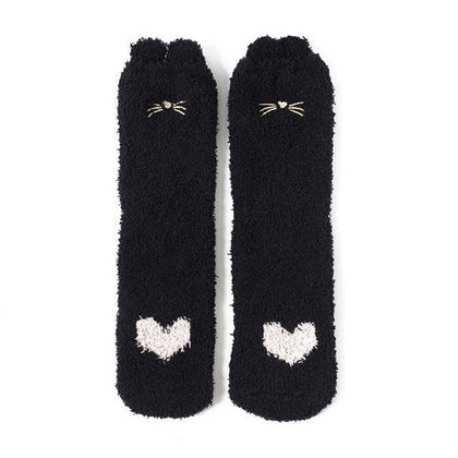 Embroidery CAT Deer Thickening women cotton Lovely Keep Warm Socks - Go Buy Dubai
