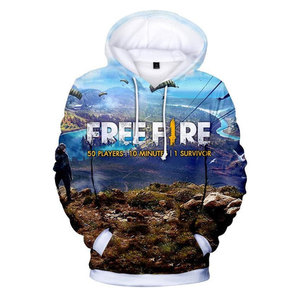 Popular Game Free Fire 3D Printed Hoodies Women/Men Trendy Long Sleeve Hooded Sweatshirt Free Fire Casual Hoodies Plus Size - Go Buy Dubai
