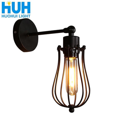 vintage wall lamp American indoor light bedside lamps aisle industrial sconce bedroom for home lighting 110V/220V E27 Wall light - Go Buy Dubai