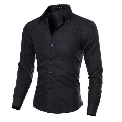 5XL Plus Size Brand-clothing Cotton Mens Clothing Solid Soft Men Shirt Long Sleeve Mens Shirts Casual Slim Fit Hot Sale - Go Buy Dubai
