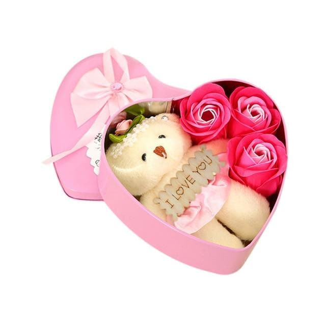 Valentine's Day Present 2019 New Arrive Soap Rose Bear Valentines Day Gift Wedding Party Decoration Birth Day Gift Box Flower