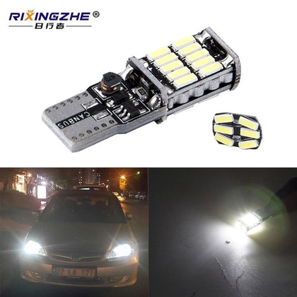 RXZ t10 w5w canbus car interior light 194 501 led 26 4014 SMD Instrument Lights bulb lamp dome light no error 12V 6000K - Go Buy Dubai