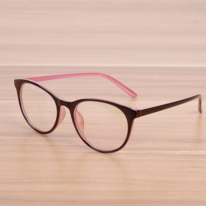 Oval Women Men's Cat Eye Glasses Prescription Eyewear Frame Female Elegant Optical Glasses Frames Spectacle Frame Goggles - Go Buy Dubai