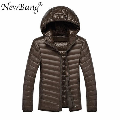 NewBang Brand 8XL 9XL 10XL Men Ultra Light Duck Down Jacket Lightweight Feather Hooded Coat Outwear Plus  Large Size - Go Buy Dubai