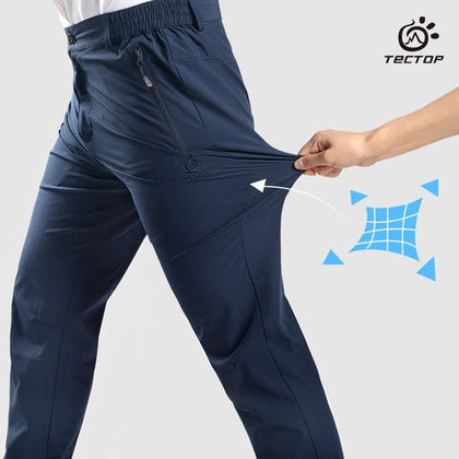 Tectop  Outdoor Men Summer Pants High Elastic Hiking Running Trousers Quick Drying Pant - Go Buy Dubai