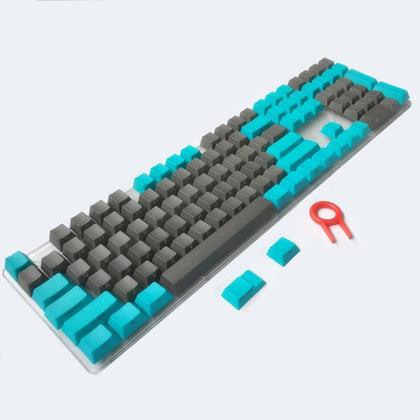 New keycaps Side/Front Printed ANSI Cherry MX Key Caps Blue Gray For 87/104/108/Anne Pro 2 MX Switches Mechanical Keyboard - Go Buy Dubai