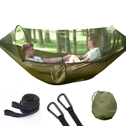 Outdoor 2 people Quick Opening Bring Mosquito Net Hammock Parachute Camp Defence Mosquito Hamac - Go Buy Dubai