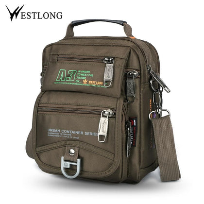 New 3705W Men Messenger Bags Casual Multifunction Small Travel Bags Waterproof Style Shoulder Fashion Military Crossbody Bags - Go Buy Dubai