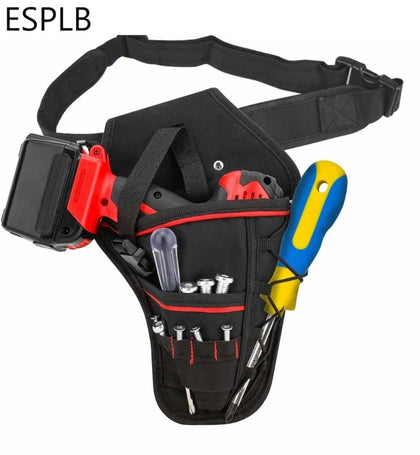 ESPLB Multi-functional Waterproof Drill Holster Waist Tool Bag Electric Waist Belt Tool Pouch Bag for Wrench Hammer Screwdriver - Go Buy Dubai