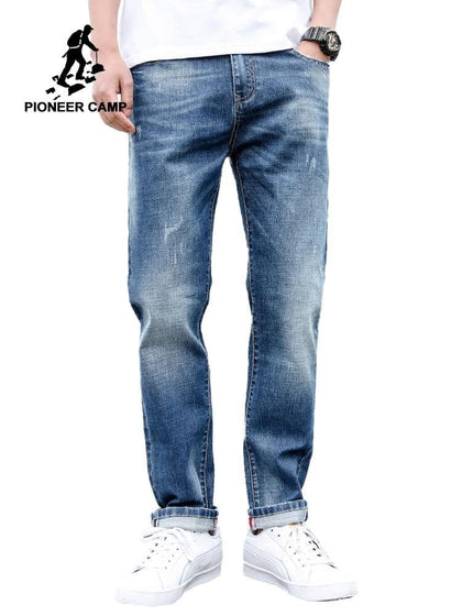 Pioneer Camp Jeans For Mens Regular Fit Pants Classic Jeans Male Jeans Embroidery Trousers Casual Straight Denim Pants ANZ908094 - Go Buy Dubai